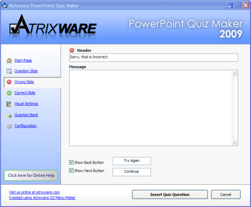 Atrixware PowerPoint Quiz Maker Archives - Atrixware